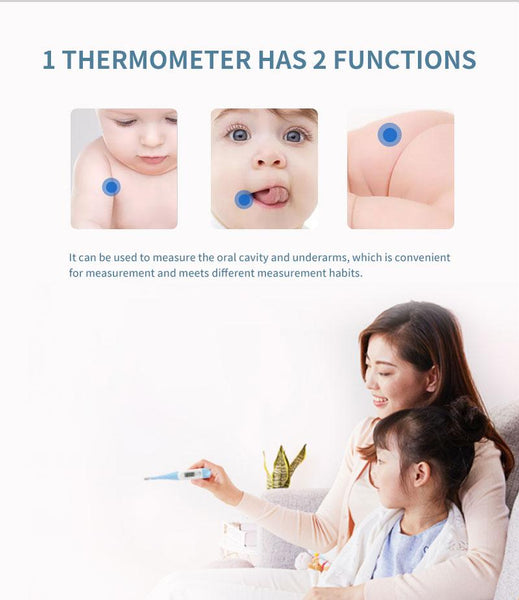 【MPHA00019】MEIPENG Thermometer soft head for children's armpit electronic oral thermometer