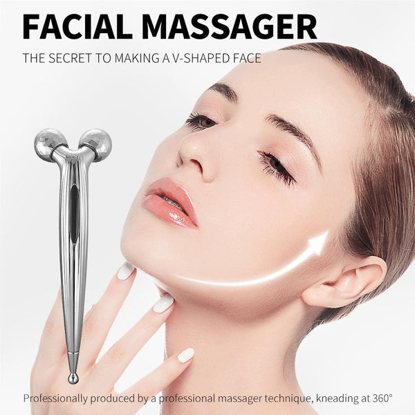 [MPTA00013]MEIPENG 3D Facial Roller  Massager V Face Lifting Massage Instrument Body Shaping Tool