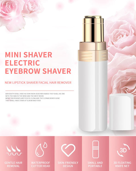 [MPTA00026] MEIPENG New lipstick shaver facial hair remover USB charging Mini shaver electric eyebrow shaver