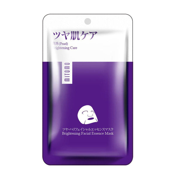 Japan MITOMO Pearl Brightening Care Facial Essence Mask HS002-A-2