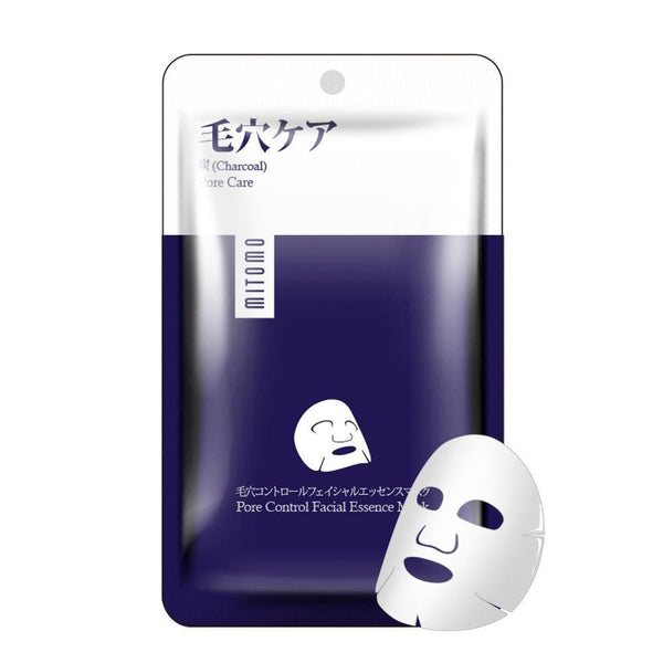 Japan MITOMO Charcoal Pore Care Facial Essence Mask HS002-A-3
