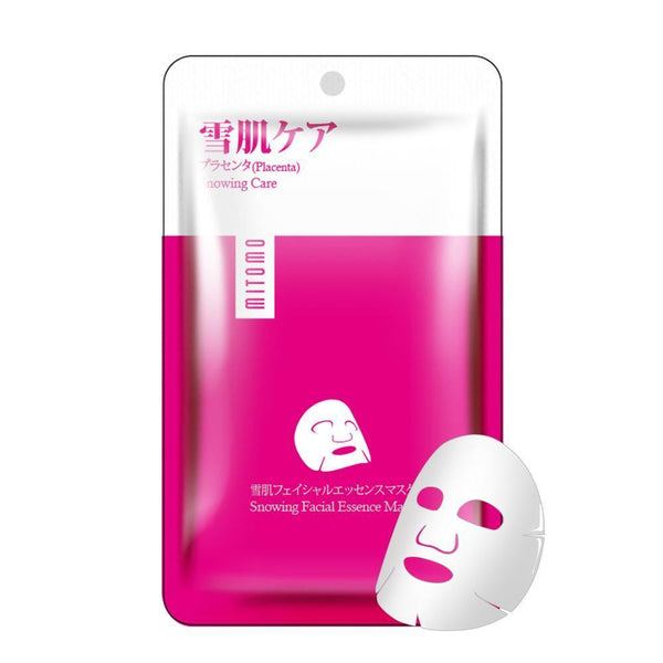 Japan MITOMO Placenta Snowing Care Facial Essence Mask HS002-A-4