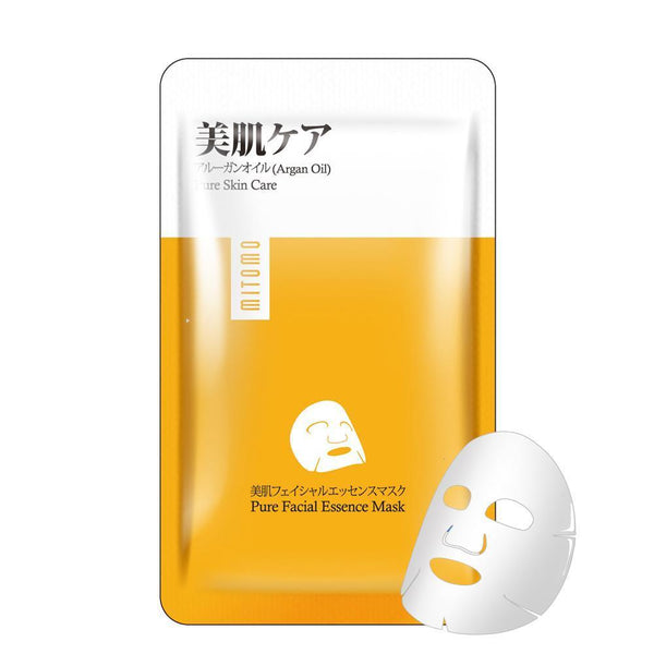 Japan MITOMO Argan Oil Pure Care Facial Essence Mask HS002-A-5