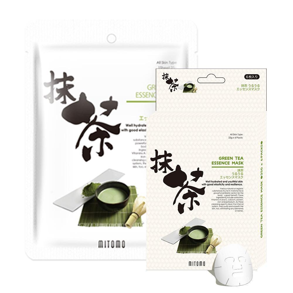 Japan MITOMO Green Tea Facial Essence Mask JP512-C-0