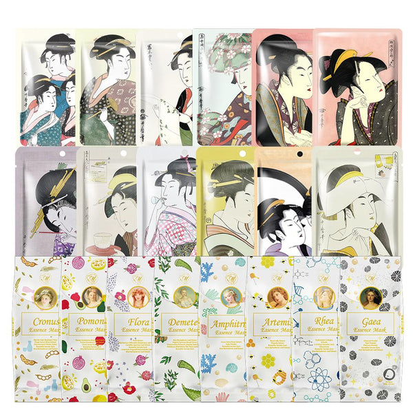 [LBPRMG030] MITOMO MG Lucky Box Skincare Beauty Face Mask Sheet bundles-Made in Japan- Type:12 SKU- 30 pcs