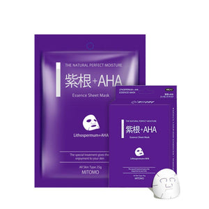 Japan MITOMO Lithospermum + AHA Pore Control Facial Essence Mask MC001-A-2