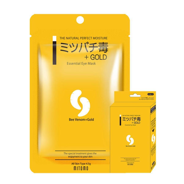 Japan MITOMO Beevenom + Gold Essence Eye Sheet Mask MC002-A-0