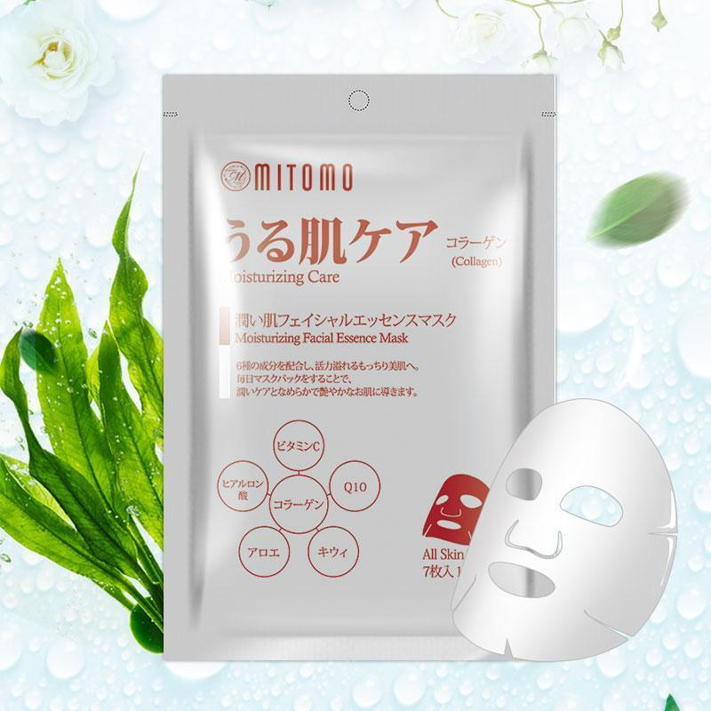 Japan MITOMO Japan Collagen Moisturizing Care Facial Essence Mask 7 PCS/Pack MT101-C-1