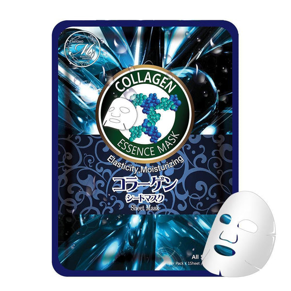 Japan MITOMO Natural Collagen Elasticity Moisturizing Facial Essence Mask MT612-A-2