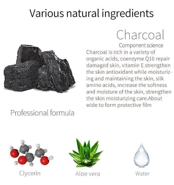 Japan MITOMO Natural Charcoal Pore Care Cleanliness Facial Essence Mask MT612-A-8
