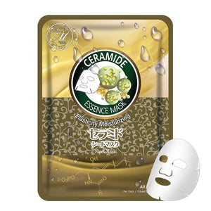 Japan MITOMO Natural Ceramide Elasticity Moisturizing Facial Essence Mask MT612-D-2