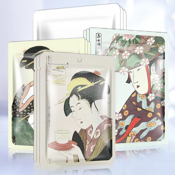 [TKJP00512-06-012]MITOMO Type F [JP UKIYOE trial set 12 sheets] Beautiful skin face mask - Made in Japan - Reward yourself, moisturize your skin.