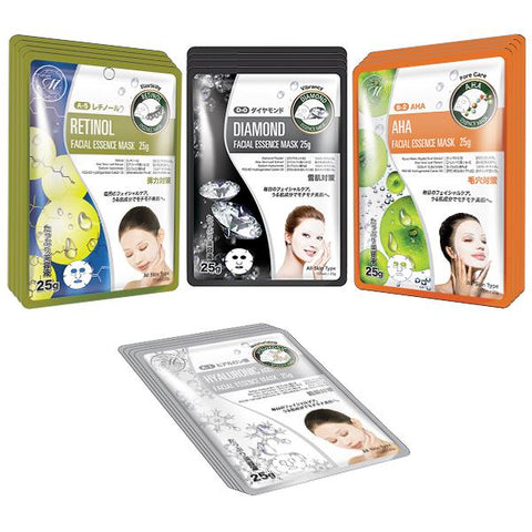 [TKMT00562-05-016]Mitomo Facial Pore-Tightening Skincare Beauty Face Mask Sheet bundles: 4 types – 16 packs