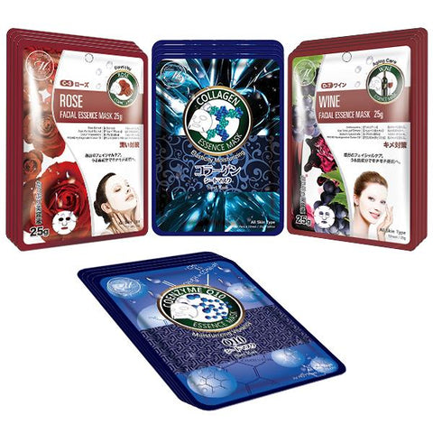 Mitomo Facial Moisturizing Skincare Beauty Face Mask Sheet bundles: 4 types – 16 packs