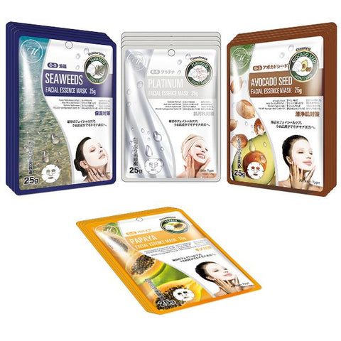 [TKMT00562-06-016]Mitomo Facial Cleansing Skincare Beauty Face Mask Sheet bundles: 4 types – 16 packs