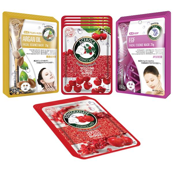 Mitomo Facial Skin-Repair Skincare Beauty Face Mask Sheet bundles: 4 types – 16 packs