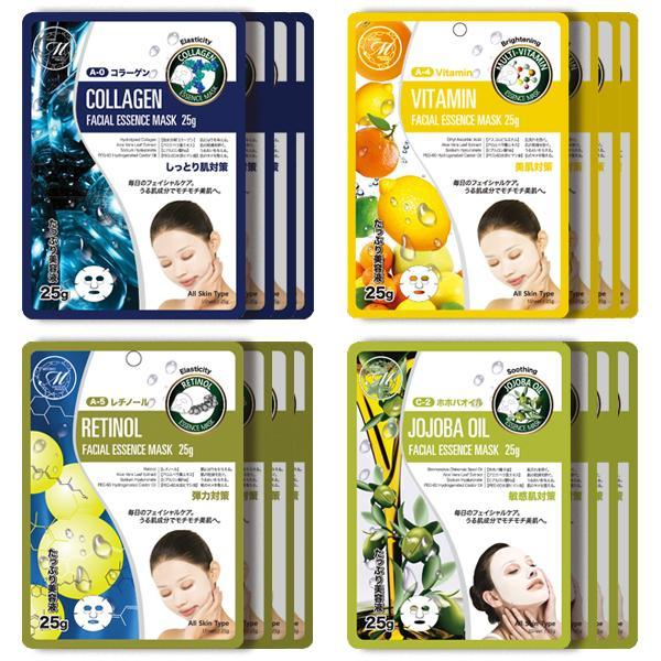 Mitomo Facial Anti-Aging Skincare Beauty Face Mask Sheet bundles: 4 types – 16 packs - Mitomo America