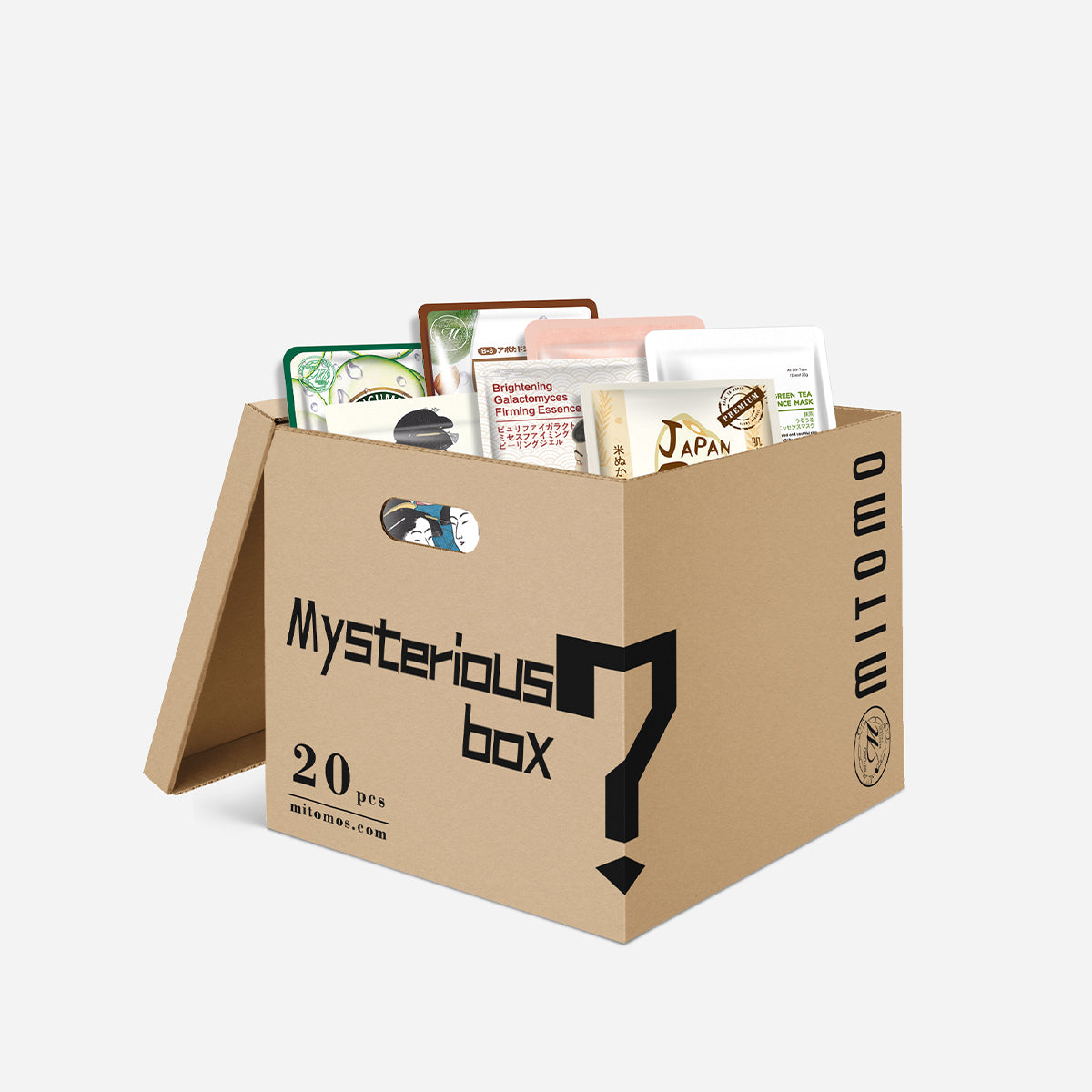 SET A. Mystery Box 20PCS MITOMO Japan Mask Sheet Double Your Value [MBLB00020]