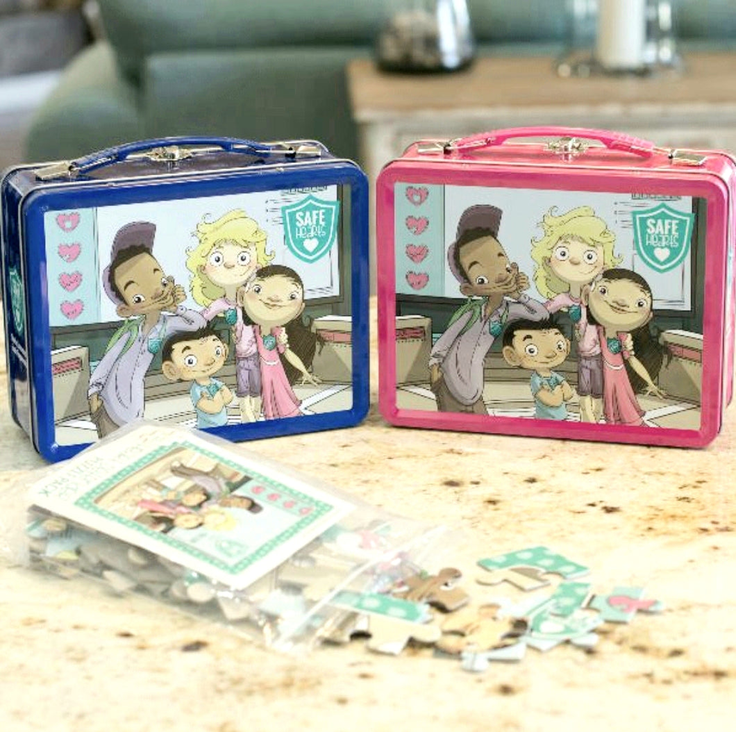 SAFE Hearts Puzzle Lunch Box