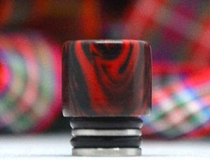 Siam Red & Black Swirl Straight - WB