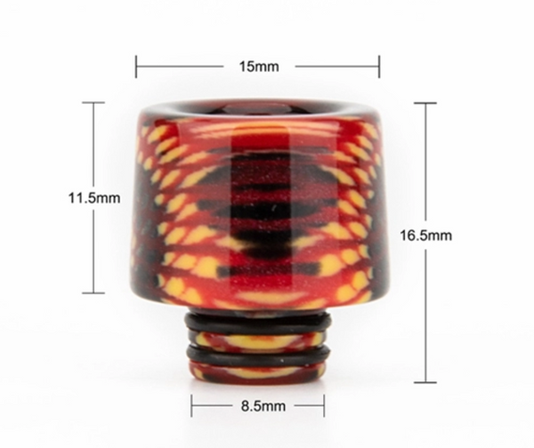 510 Tapered Drip Tip - 4 Colour Choice