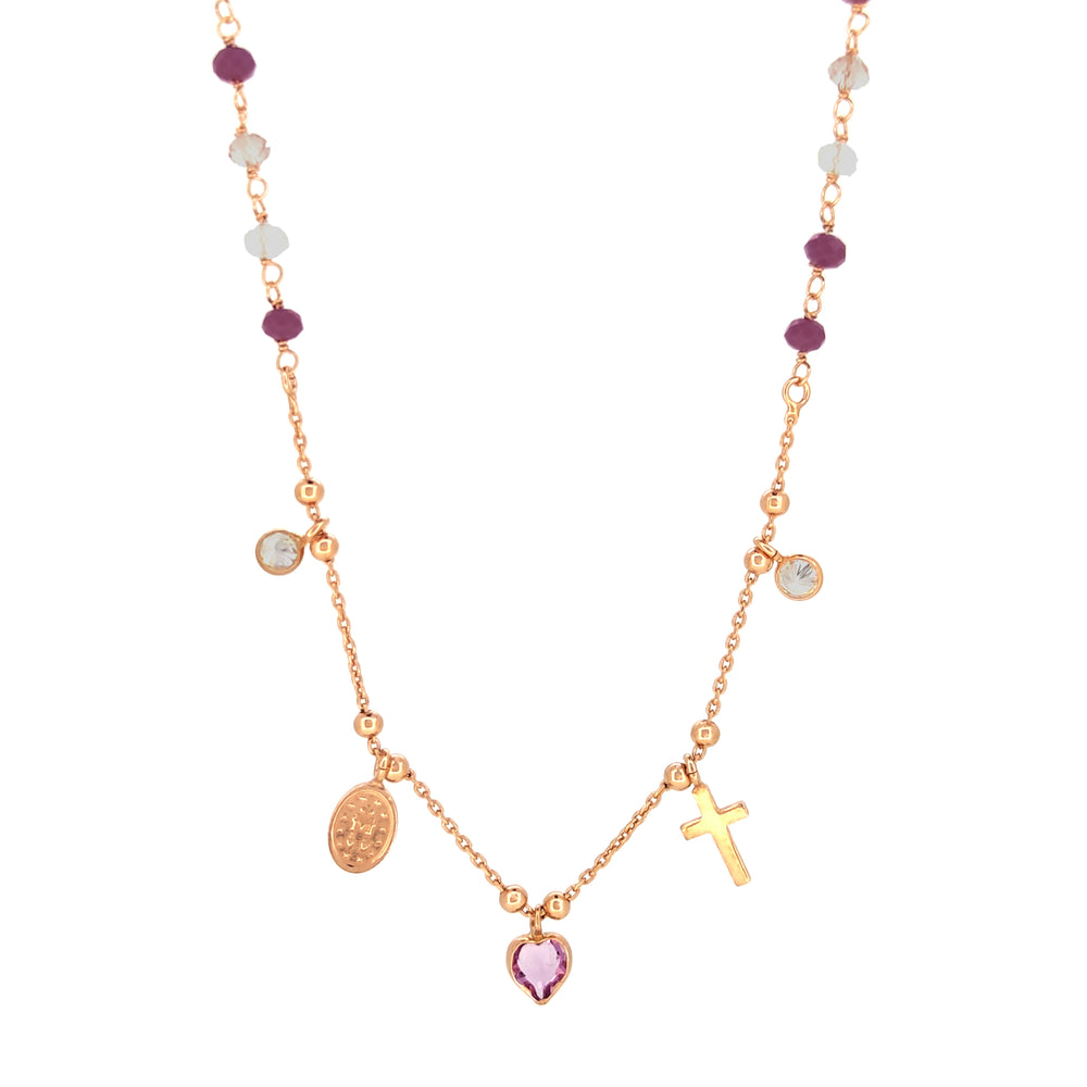 Collana in Argento 925 Rose