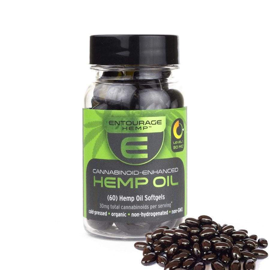 CBD Oil Capsules by Entourage: 15mg/ea - CBD Capsules