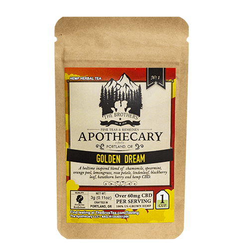 The Brothers Apothecary | Golden Dream Tea - CBD Teas