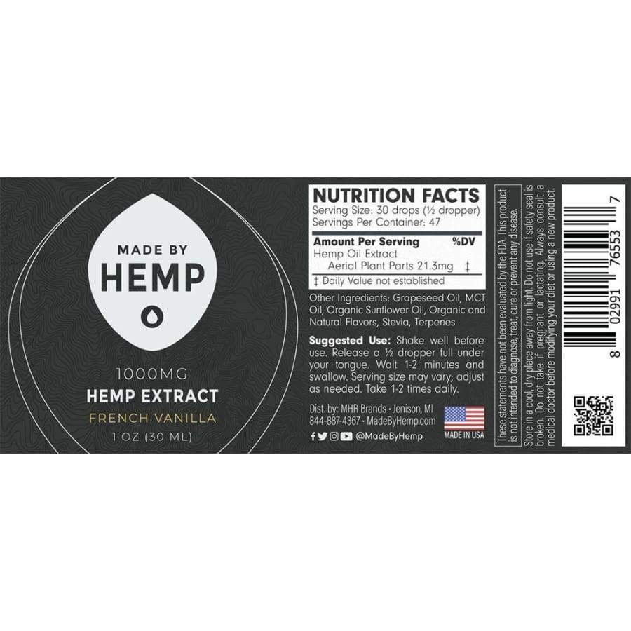 Made By Hemp: Hemp Extract (1000 mg) - CBD Oils
