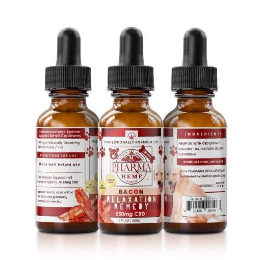 Pharma Hemp | Bacon Flavor CBD Tincture for Pets (1oz 550 mgs) - CBD Pets