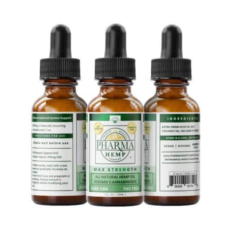 Pharma Hemp | Pure CBD Tincture Max Strength (1oz 3 000mg) - CBD Oils