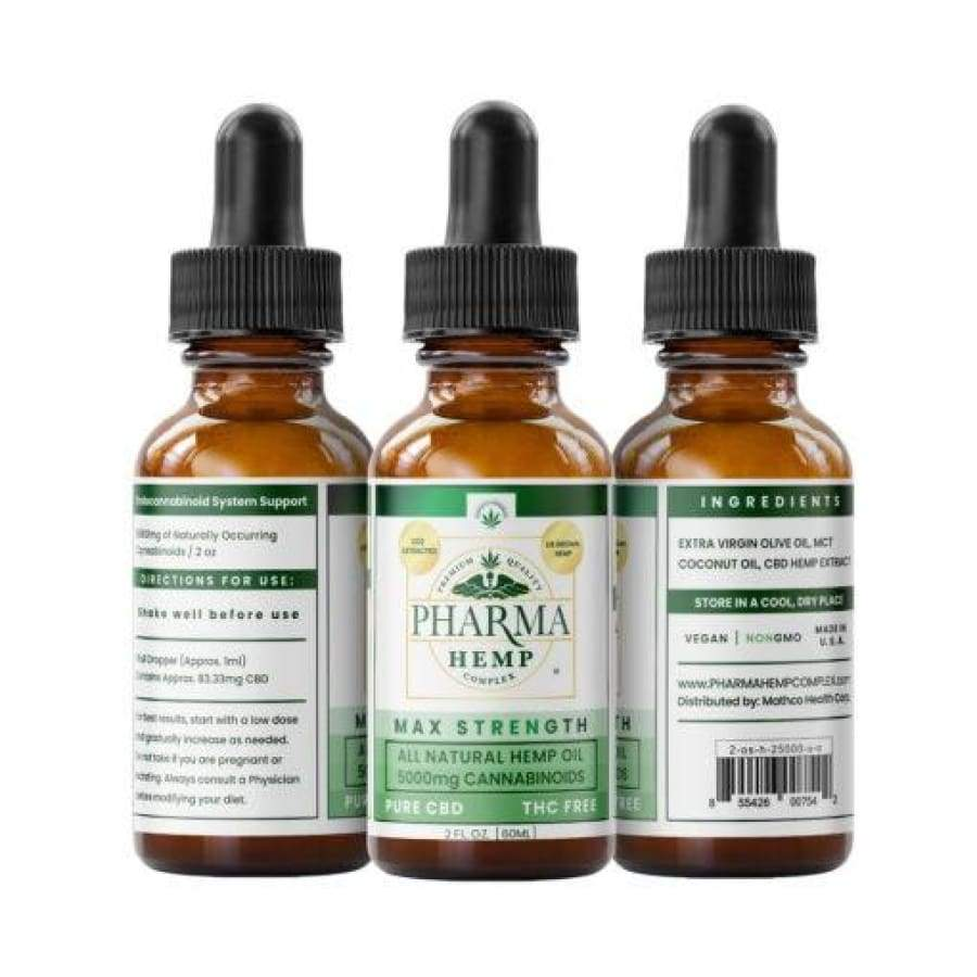 Pharma Hemp | Pure CBD Tincture Max Strength (2oz 5 000mg) - CBD Oils