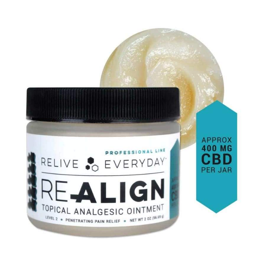 Relive Everyday | RE-ALIGN Topical Analgesic Balm (2oz 200-600mg) - CBD Topicals