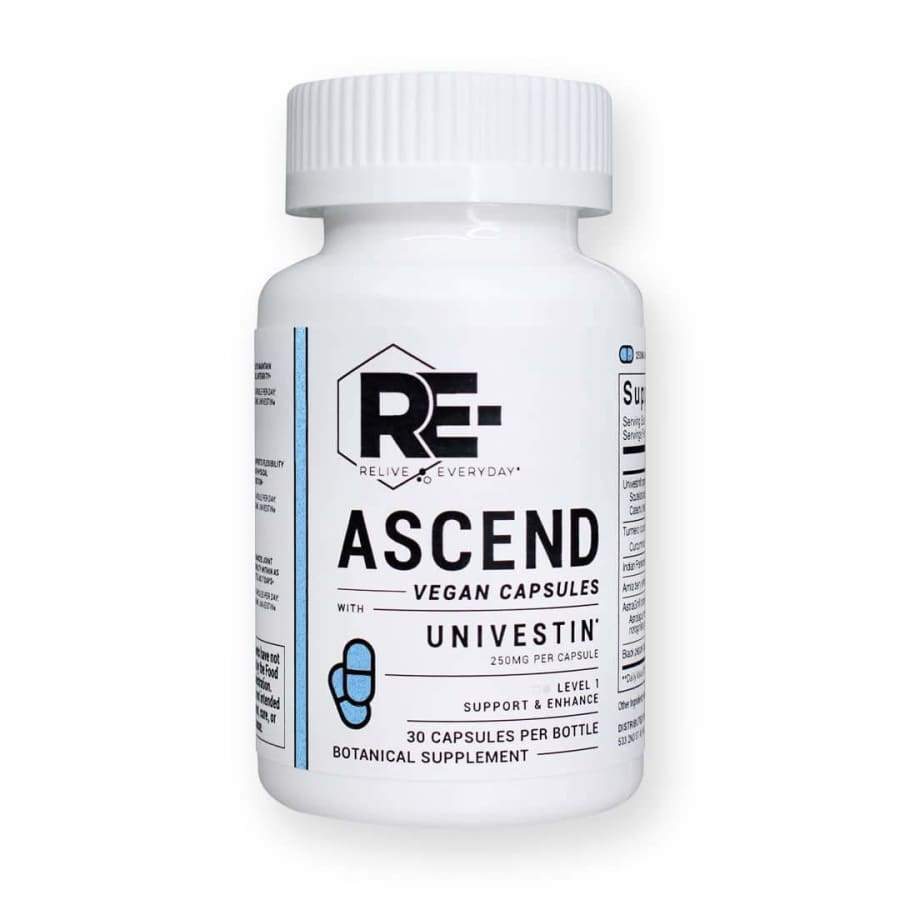 Relive Everyday | Re-Ascend Vegan CBD Capsules (30ct 250mg) - CBD Capsules