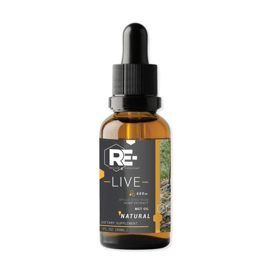 Relive Everyday | RE-LIVE Natural Hemp Extract CBD Oil (1oz 600-1800mg) - CBD Oils