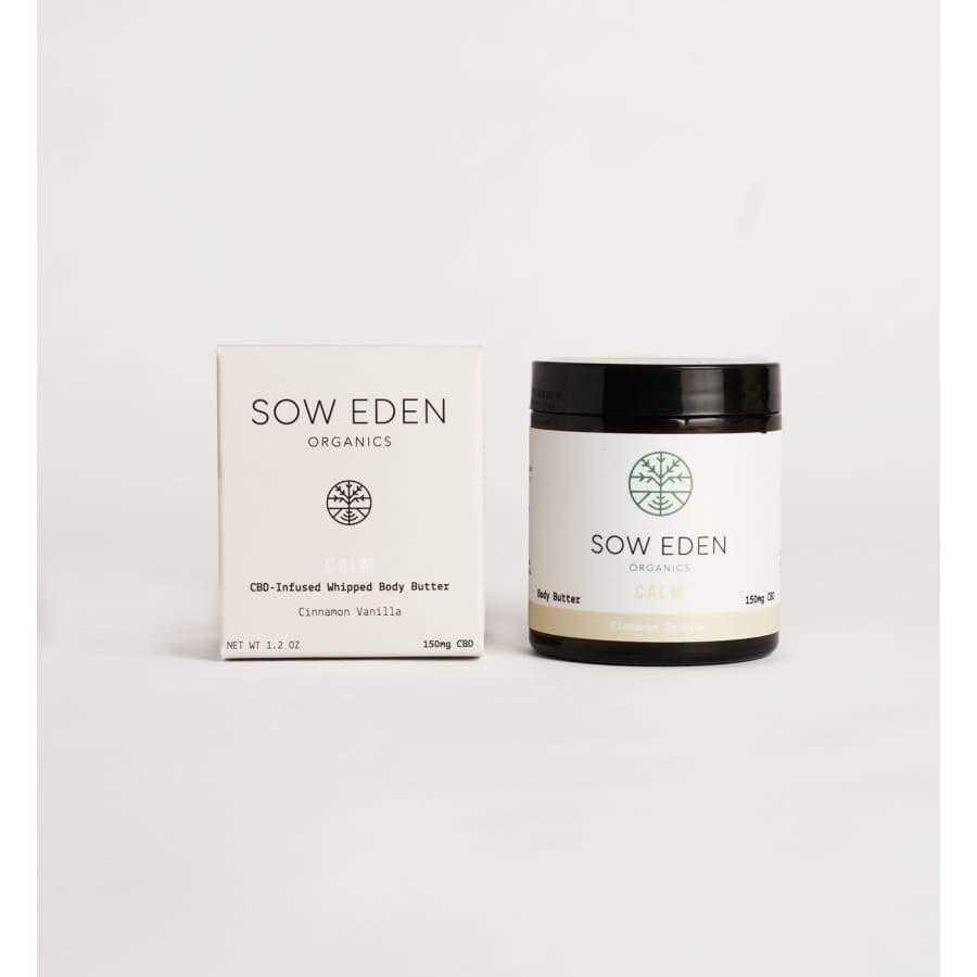 Sow Eden | Calm CBD Body Butter with Cinnamon & Vanilla (1.2oz 150mg) - CBD Topicals