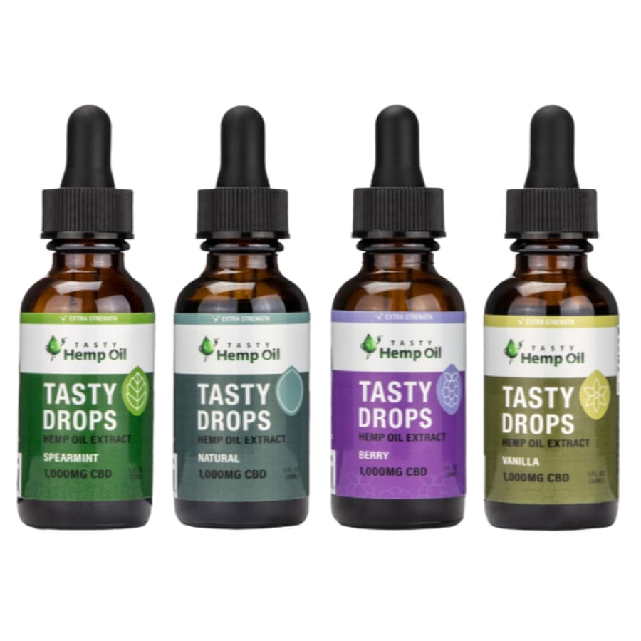 Tasty Hemp Oil | Tasty Drops Extra Strength (10z 1000mg) - CBD Oils