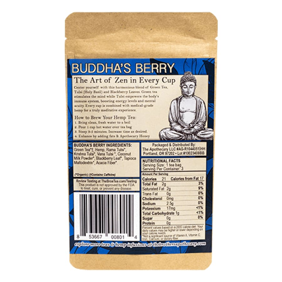 The Brothers Apothecary | Buddhas Berry Tea - CBD Teas