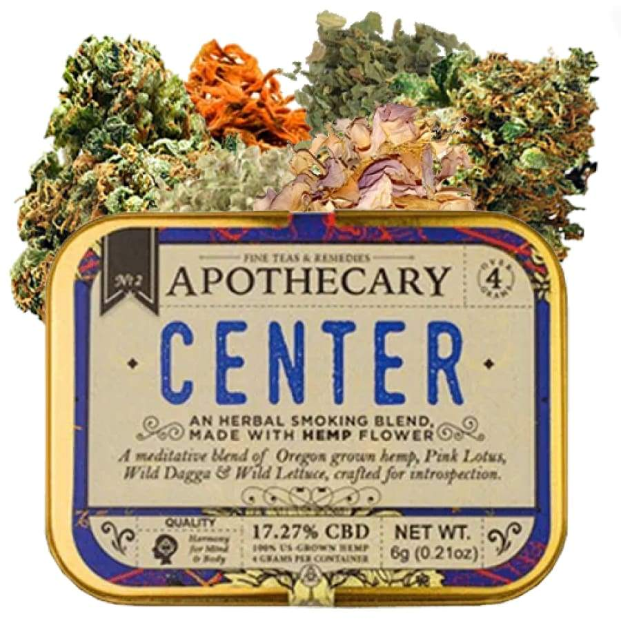The Brothers Apothecary | Center Hemp CBD Smoking Blend (4g) - CBD Smokeables