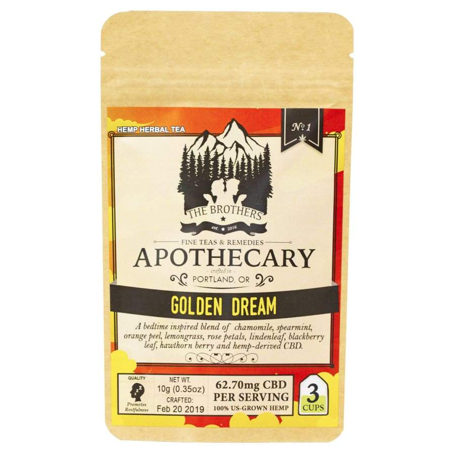 The Brothers Apothecary | Golden Dream Tea - 3 Pack - CBD Teas