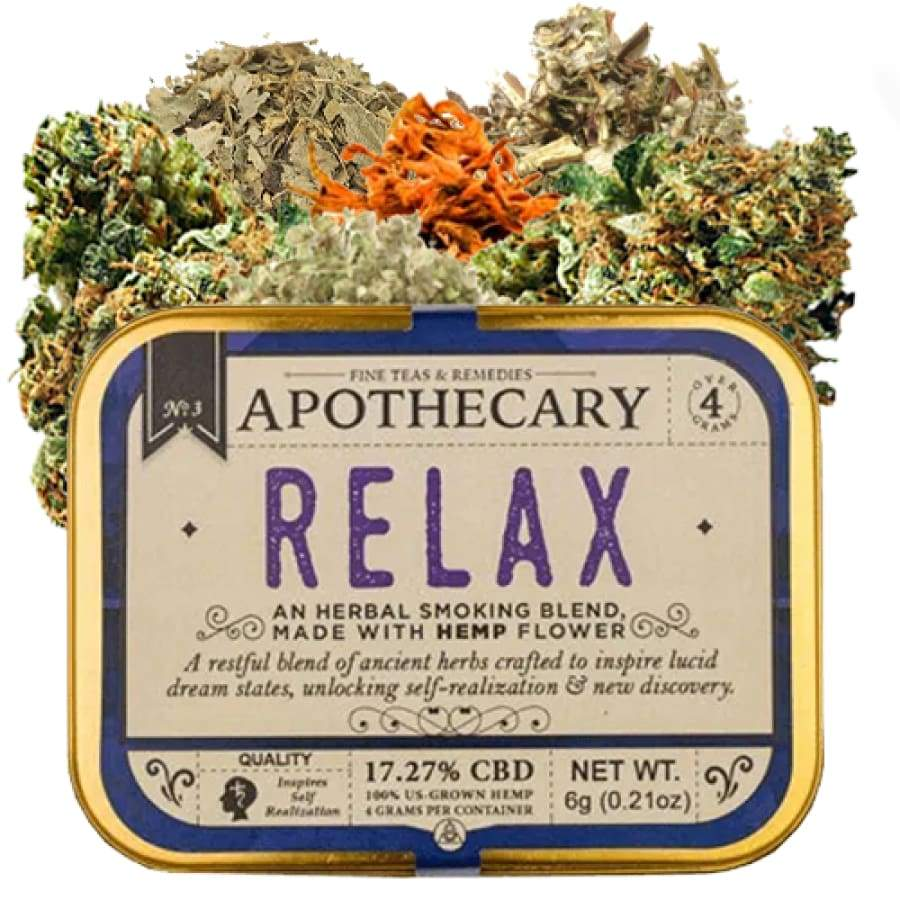 The Brothers Apothecary | Relax Hemp CBD Smoking Blend (4g) - CBD Smokeables