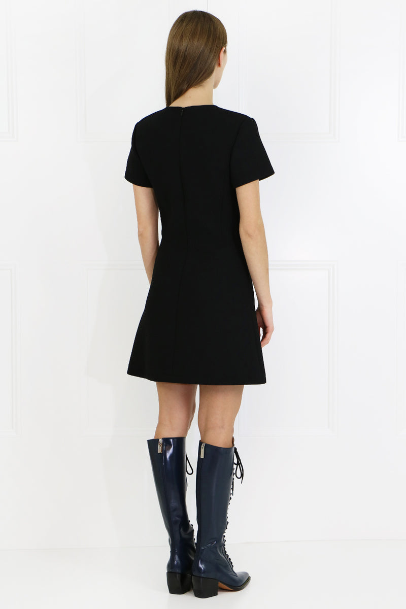 TUNIC MINI DRESS S/S BLACK