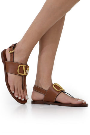 V RING THONG SANDAL TAN