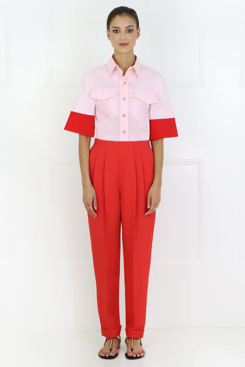 TAPERED PANTS RED