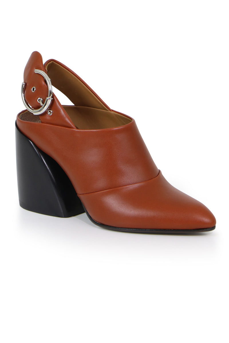 WAVE MULE WITH BLOCK HEEL SEPIA BROWN
