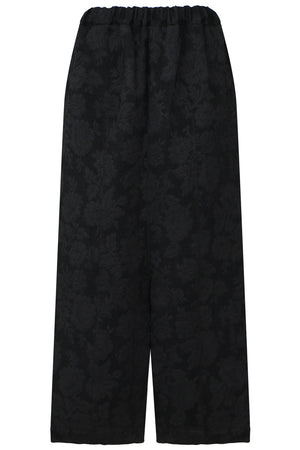TRICOT JACQUARD DROP CROTCH PANTS BLACK