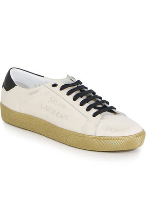 COURT CLASSIC SNEAKER WITH CONTRAST SOLE WHITE/BLACK