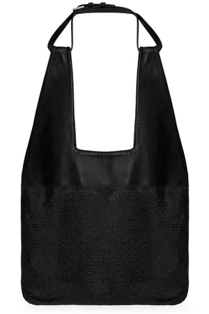 CONTRAST MESH TOTE BAG BLACK