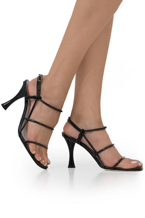 STRAPPY SANDAL 90MM BLACK