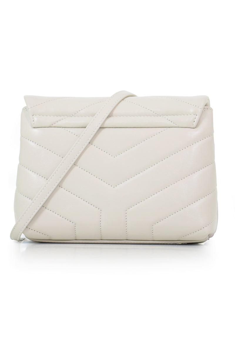 LOULOU TOY STRAP BAG CREMA SOFT/GOLD